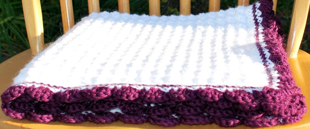 Purple baby blanket 001