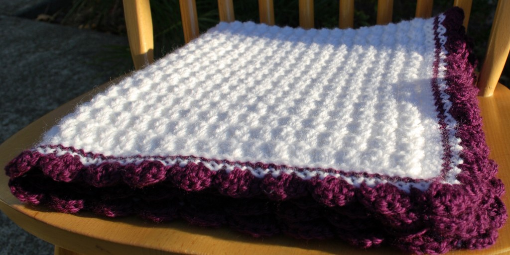 Purple baby blanket 002