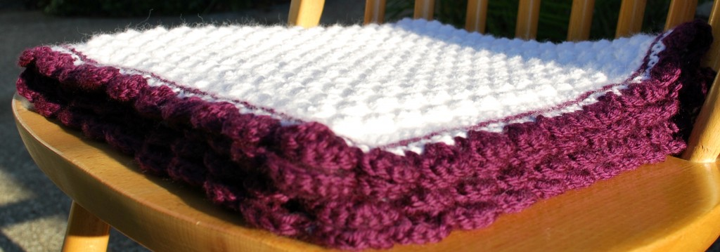 Purple baby blanket 003