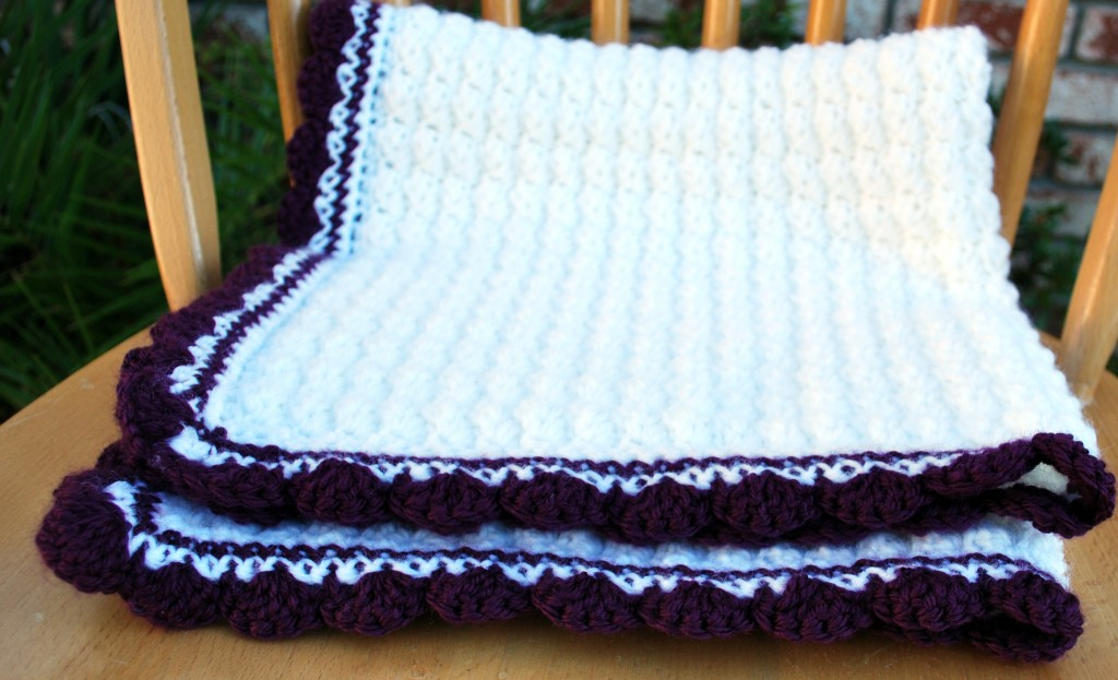 Purple baby blanket 007