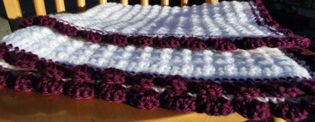 Purple baby blanket 013